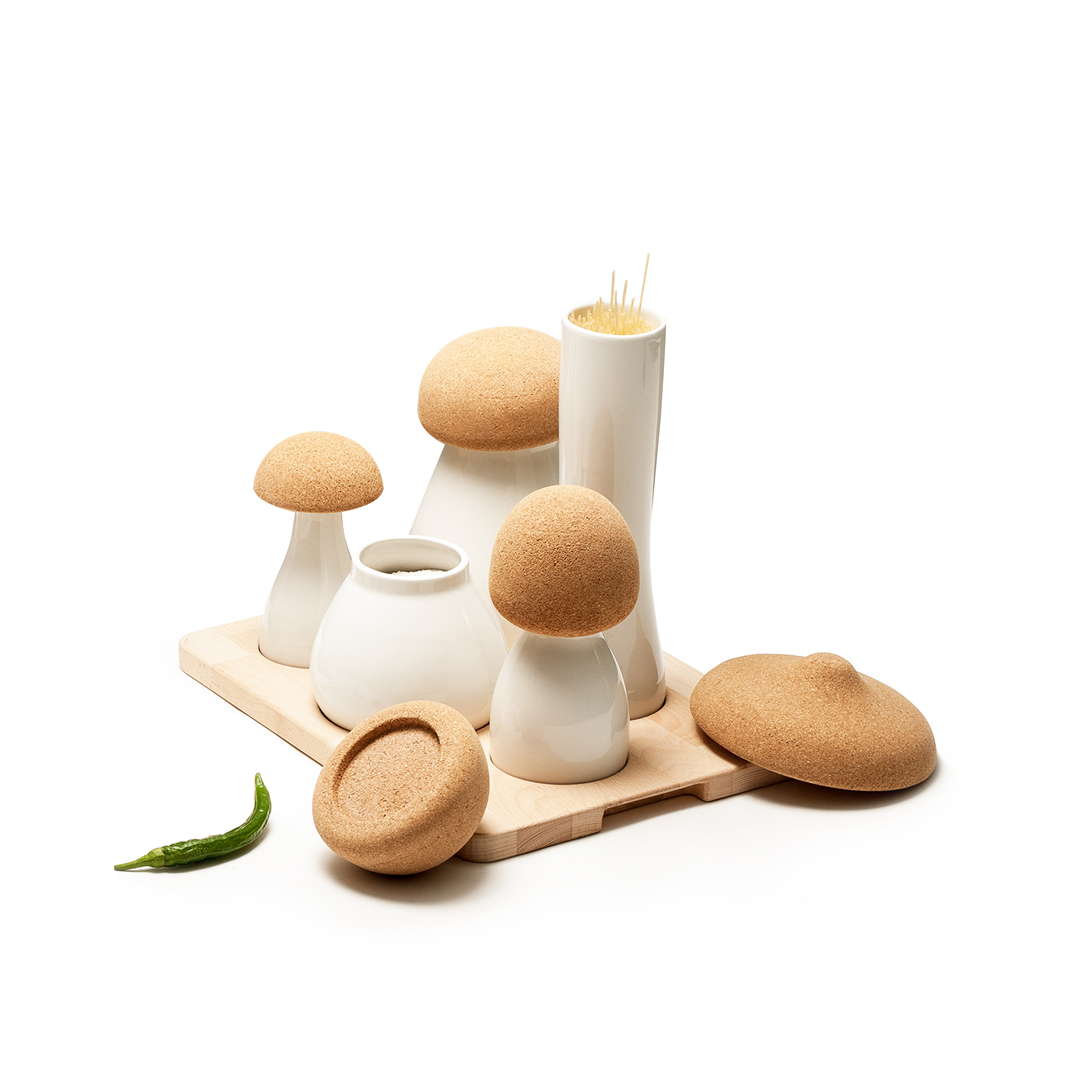 Ubikubi - set Albe - recipiente pentru bucatarie