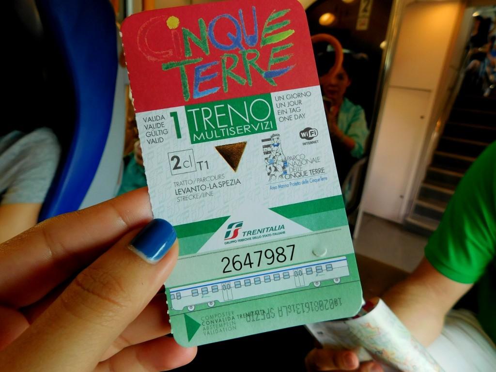 Cinque Terre train tiquet