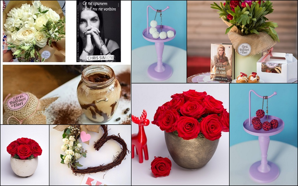 carti, dulciuri, flori si coliere
